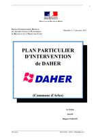 Plan particulier d'intervention de DAHER