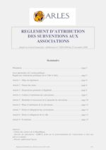 Règlement d'attribution des subventions aux associations